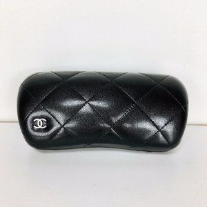 Authentic CHANEL Quilted Leather Sunglasses Case